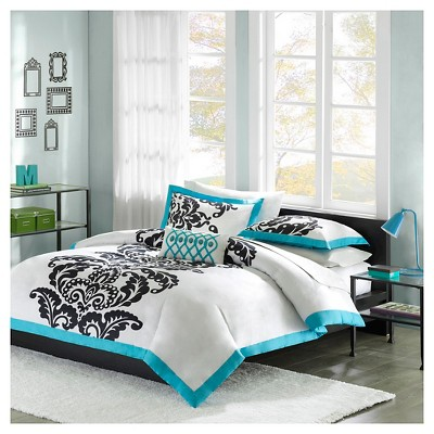Ibiza 4 Piece Duvet Cover Set - Teal (King)