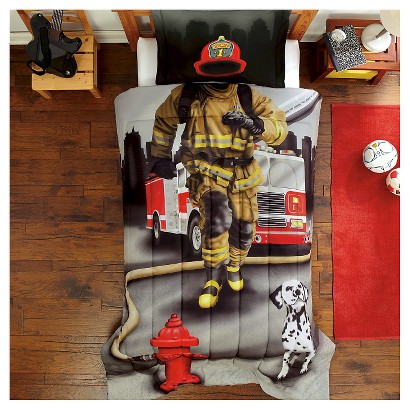 Dream Big Fire Fighter Mini Comforter Set