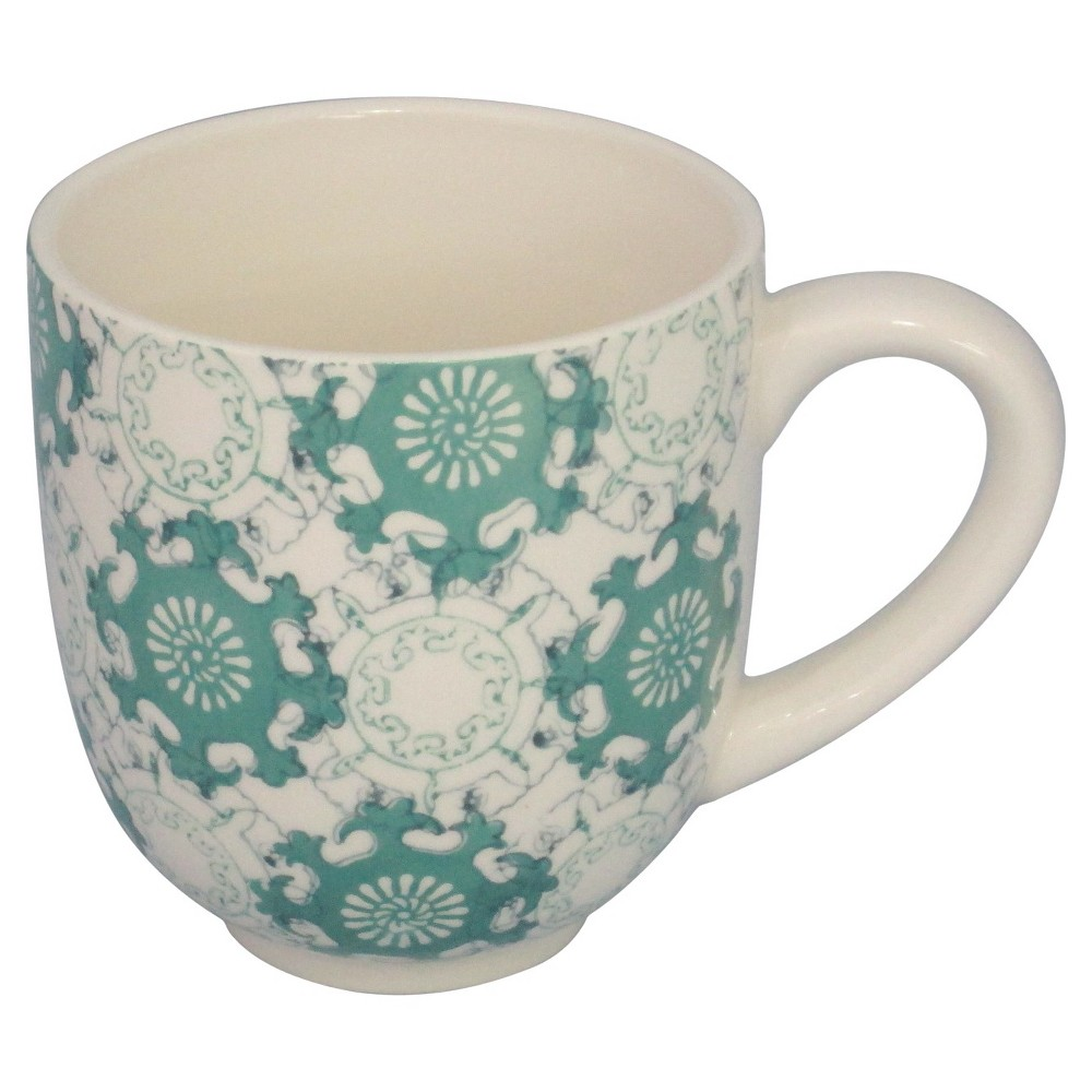 Threshold Aqua Medallion Mug Set of 4 - Green
