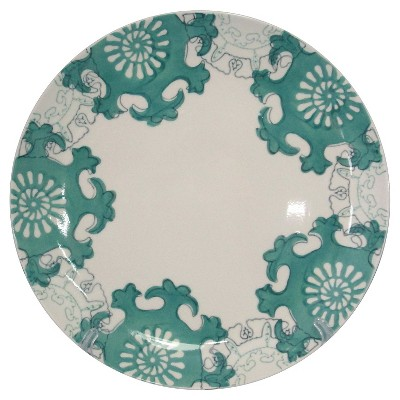 Threshold™ Aqua Medallion Dinner Plate Set of 4 - Green