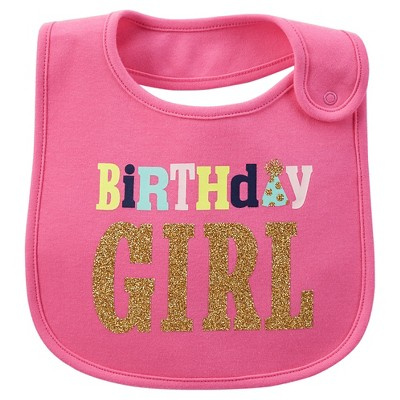 Just One You™Made by Carter's® Newborn Girls' Birthday Girl Bib - Pink