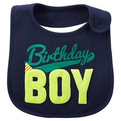 Just One You™Made by Carter's® Newborn Boys' Birthday Boy Bib - Navy