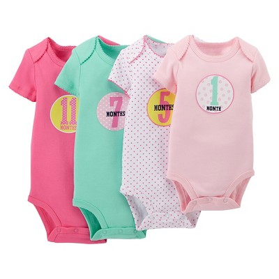Just One You™Made by Carter's® Newborn Girls' Birthday Bodysuit and Sticker Set - Pink