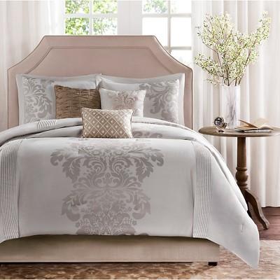 Conrad 7 Piece Jacquard Comforter Set - Natural (King)