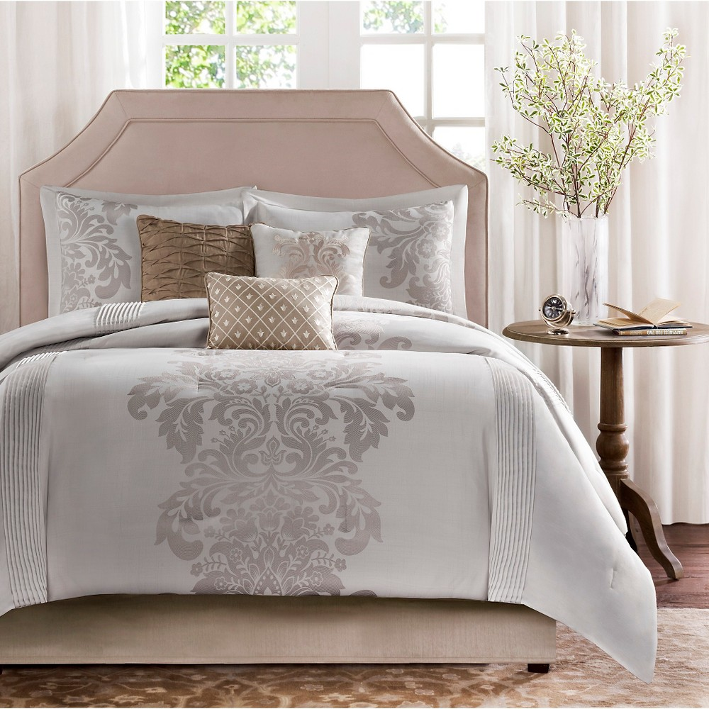 Conrad 7 Piece Jacquard Comforter Set - Natural (California King)