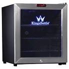 Kingsbottle 36 Can Stainless Steel Mini Bar Fridge