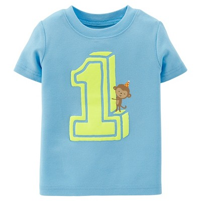 Just One You™Made by Carter's® Toddler Boys' Number 1 Birthday Tee - Blue 12 M