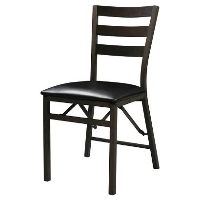 Linon Home Decor Folding Chair Black Tar