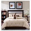 Ramsey 7 Piece Embroidered Microsuede Comforter Set