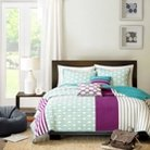 Kyra 5 Piece Quilted Coverlet Set - Purple (Full/Queen)