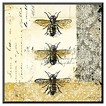 Art.com - Golden Bees n Butterflies No. 1 - Mounted Print