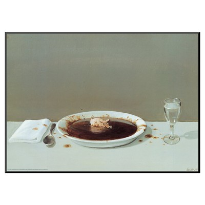 Art.com - Pig in Soup by Michael Sowa - Mounted Print