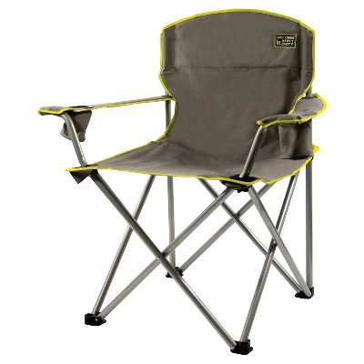 Quik Chair 1/4 - Ton Heavy Duty Folding Armchiar - Gray