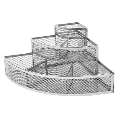 Under Vanity Tiered Corner Storage Rack Silver Neat Life