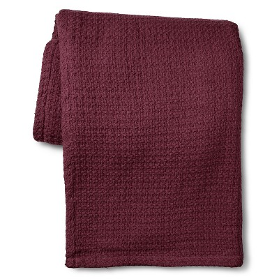 Elite Home Grand Hotel Cotton Solid Blanket - Plum (Full/Queen)