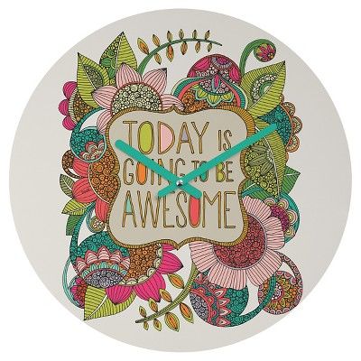 DENY Designs - Valentina Ramos - Today is Going to be Awesome Round Clock
