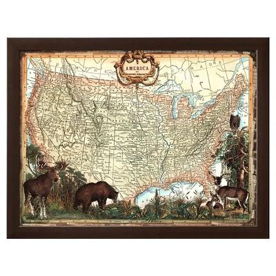 Art.com - USA Map - Framed Print