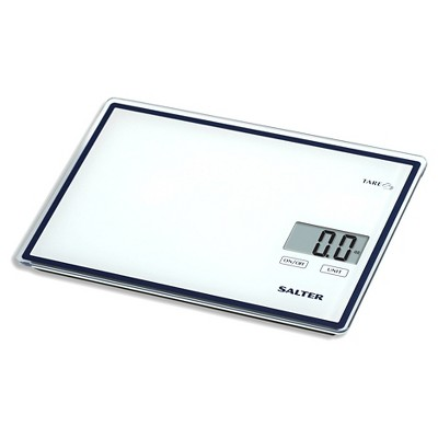 SALTER Touchless Tare 11lb Glass Top Food Scale