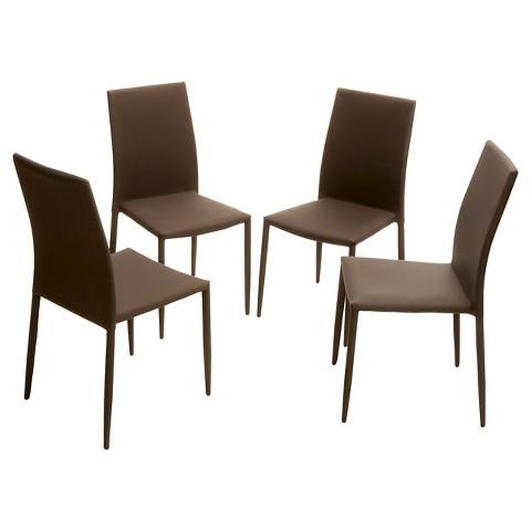 Wayfield Dining Chair Steel Brown Set of 4 C Tar