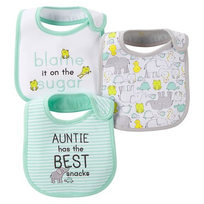 Just One You™Made by Carter's® Newborn 3 Pack Bib Set - Green/Grey