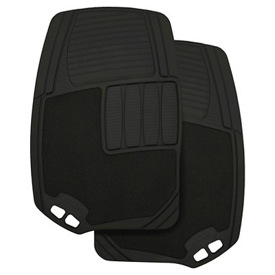 Rubbermaid Carpet/Rubber Floor Mats Black 2pk