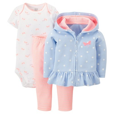 Just One You™Made by Carter's® Newborn Girls' 3 Piece Dragonfly Set - Periwinkle 18 M