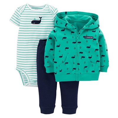 Just One You™Made by Carter's® Newborn Boys' 3 Piece Whale Set - Green 3 M