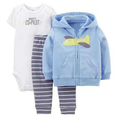 Just One You™Made by Carter's® Newborn Boys' 3 Piece Plane Set - Blue NB