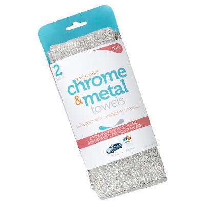 Microfiber Chrome & Metal Towels, 2ct