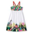 Toddler Girls' Safari Maxi Dress - Fresh White
