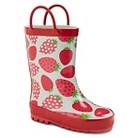 Toddler Girl's Strawberries Rain Boots