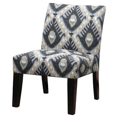 Accent Chair: Upholstered Chair: Skyline Kensington Slipper Chair, Ace Ikat  Mineral 00859217326768