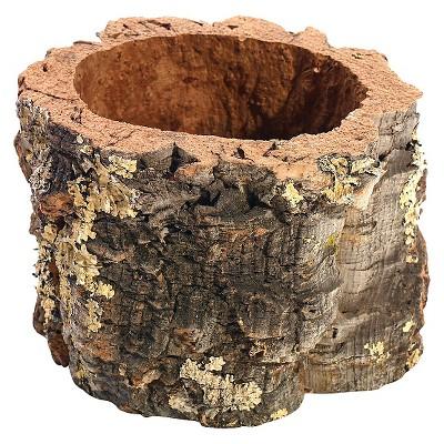 Decorative Bowl Accent Decor Brown Cork