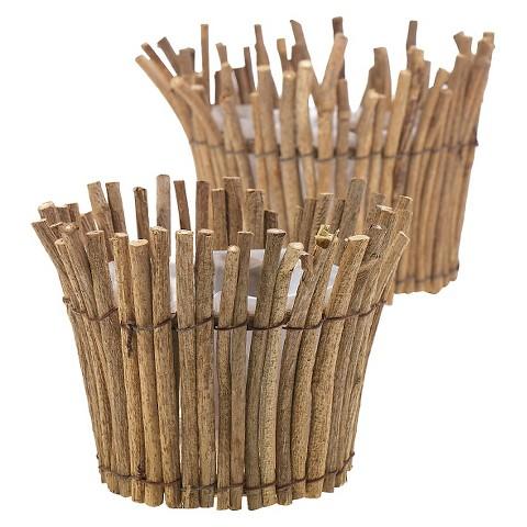 accent decor bowl bark wood - Accent Decor