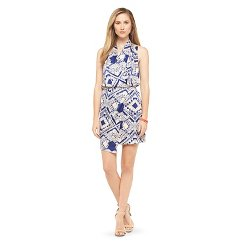 Women's chandi & lia Geometric Faux Wrap Dress Blue