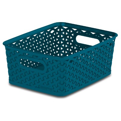 Y Weave Small Bin Teal Blue - Set/4 - Room Essentials™