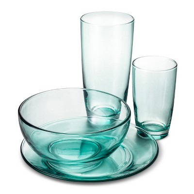 Dinnerware Set Libbey Night Turquoise Solid