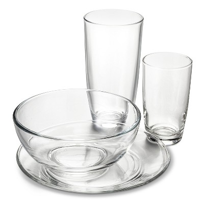 Libbey Clear Solid 24 Piece Dinnerware Set