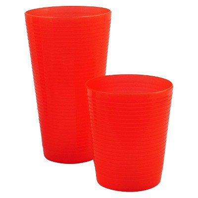 Room Essentials™ Large & Short Tumbler with Ridges- Orange