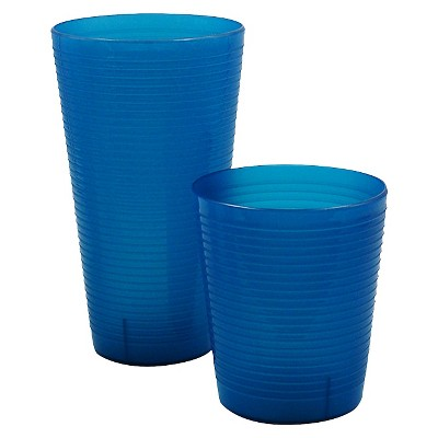 Room Essentials™ Large & Short Tumbler with Ridges - Avalon Sea