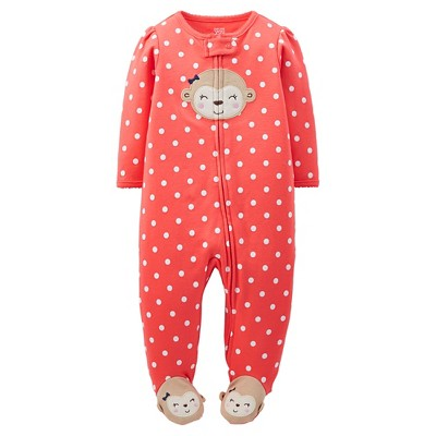 Just One You™Made by Carter's® Newborn Girls' Monkey Sleep N' Play - Coral 3 M