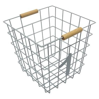 Circo™ Number 1 Wire Decorative Basket - Grey