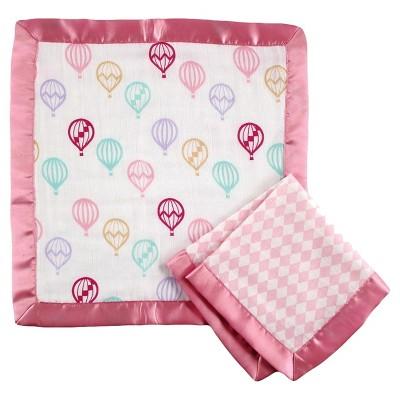 Hudson Baby Muslin Security Blanket - Pink