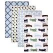 Hudson Baby Flannel Receiving Blanket 4 Pack Blue