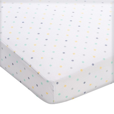Breathable Baby® Wick-Dry Fitted Crib Sheet - Aqua Mist Dot