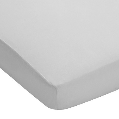 Breathable Baby® Plus Fitted Crib Sheet - Grey Mist