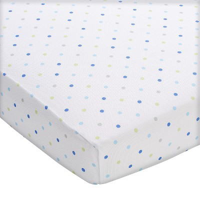 Breathable Baby® Wick-Dry Fitted Crib Sheet - Blue Mist Dot