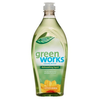 Green Works Dishwashing Liquid, Original, 22 oz