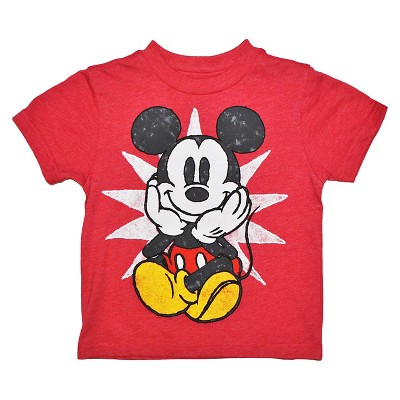 Disney® Mickey Mouse Infant Toddler Boys Tee - Red 12 M