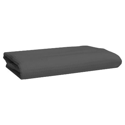 Blank Home Fade to Grey Waffle Portuguese Bath Towel - Dark Grey